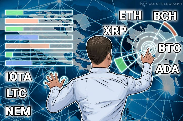Price Analysis, Jan. 19 - Bitcoin, Ethereum, Bitcoin Cash, Ripple, IOTA, Litecoin, NEM, Cardano
